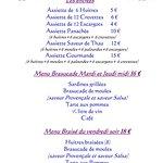 Carte et menu Coqui Thau