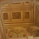 In the lobby - pictures, golden frames, golden arcades. Looks better when you see with your own