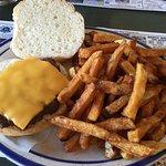 Fish & Chips and Cheeseburger