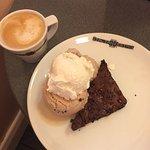 Chocolate brownie hazel and coconut ice cream ;)