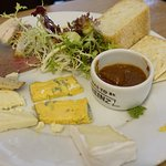 A small Ploughman's. Including Smoked chicken and smoked goat's cheese.