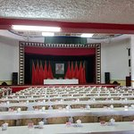 meeting room used by nationalists, then communists for many years, original name tags and all