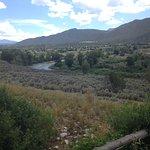 Wide Roaring Fork River Valley