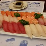 Large Sashimi and Sushi Party Tray for 84$ (two pictures)