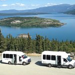 Our buses at Bove Island