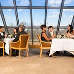 Central Park as dining backdrop in the Members Dining Room