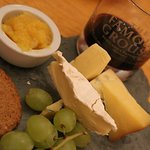 cheese platter and port