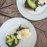 Delicious homemade and healthy twist of Eggs Benedict made by Andrew
