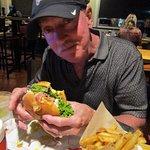 Dick loving his Sunrise burger