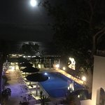 Moonlit view from our room