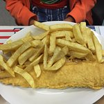 Gluten free cod and chips.