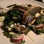 sea bass at manor west hotel restaurant