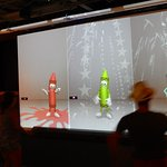 Interactive crayon dancing