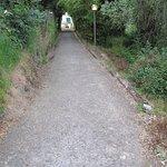 Footpath to village 10 mins walk