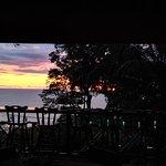 bar at sunset