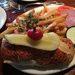 Garlic burger and garlic-parm fries