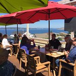 """Thursday business lunch with a gorgeous view - steamer clams and """"Crabby Patty""""!"""