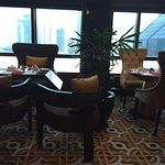 Executive lounge breakfast spread