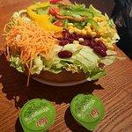 Salade taco végétarienne.