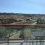 View from the restaurant across the vineyards