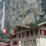 Chalet Rosa and Staubach Falls