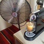 A Nespresso machine and fan was a nice bonus!