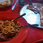 Pizza and spaghetti. What else do you need?