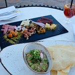 Tuna tartare and charcuterie plate from The Oak