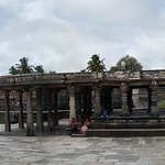Panorama shot of the structures adjacent to the main temple