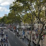 Beautiful view of las ramblas and plaça de catalunya  from my room