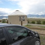 Can park the car right behind the Yurt