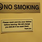 Totally agree with 'no smoking' but don't think so for the other
