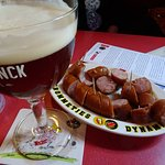 Beer and rookworst