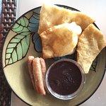 fry jacks and beans breakfast