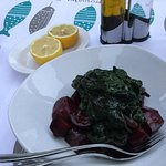 Terrific beetroot salad with spinach