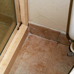 leaking shower stall