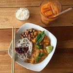 Red Curry with our Thai Iced  Tea