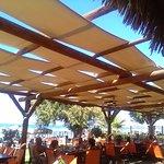 Poseidon's terrace between restaurant and beach