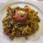 paella uniquement de poisson
