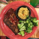 ½ rack of ribs