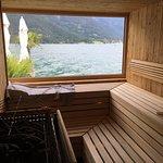 Sauna im See!
