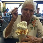 My Mom loves their sundaes but they are so big that she can't eat it all.