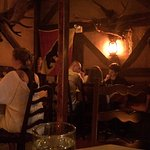 Rustic Swiss hut interior!