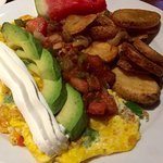 The Southwestern Sunrise omelette.  The avocado were a big seller die this one.  Very good.