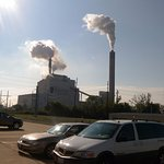 Powerplant view as seen from the parking lot