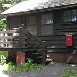 Cozy cabin exterior.