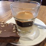 Cafe Bombon with Snickers Tray Bake
