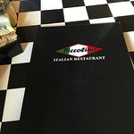 Piccolino Menu and plastic tablecloth