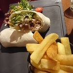 Chicken wrap and chips