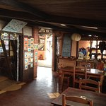 Het restaurant en winkeltje